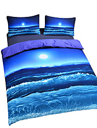 New Beach Ocean Duvet Cover Set 3D Bedding Set Twin Full Queen