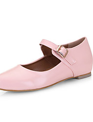 Women's Flats the four seasons Mary / Comfort / Pointed Toe Patent Leather Office & Dress / Casual Low Heel