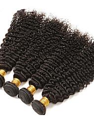 4Pcs/Lot 10-30 Malaysian Virgin Hair Color Natural Black Kinky Curly Human Hair Weft Unprocessed