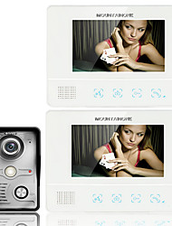 ENNIO7 7 Inch TFT Touch Screen Color LCD Video Door Phone Wired Video Intercom 2 Monitor Doorbell Intercom system