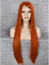 IMSTYLE 30Cheap Orange Top Quality Extra Long Straight Synthetic Lace Front Wigs