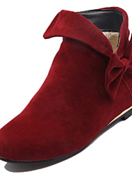 Women's Boots Spring / Fall / Winter Fashion Boots Fleece Wedding / Office & / Dress / Casual Low Heel Bowknot