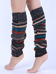 Women's Winter Knitting Warm Wool Striped Leg Warmers