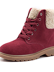 Women's Boots Spring / Fall / Winter Snow Boots Suede Outdoor / Athletic / Casual Low Heel  Brown / Red Snow