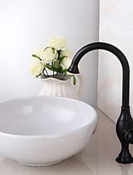 contemporain bronze personnalisé poignée simple robinet d'évier salle de bain d'huile frotté - noir