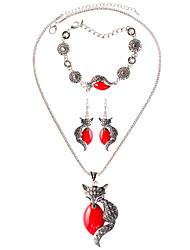 Collar / pulsera Collar / pendientes Moda estilo de Bohemia Legierung Negro Rojo Verde Collares Pendientes Pulsera Para Diario Casual1