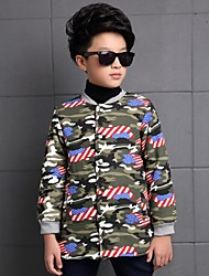 Boy's Casual/Daily Print Down & Cotton PaddedPolyester Winter Green