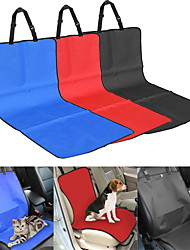 Cat Dog Car Seat Cover Pet Blankets Solid Plaid/Check Waterproof Foldable Black Beige Gray Ruby Blue