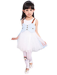 Girl's Going out Solid Dress,Polyester Summer Blue / Pink / White
