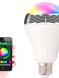 E27 3.5W Bluetooth Control Smart Music Audio Speaker LED RGB Color Bulb Light Lamps AC85-265V