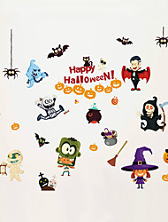 Wall Stickers Wall Decals Style Halloween The Haunted House Elvesr PVC Wall Stickers
