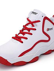Unissex-Tênis-Conforto-Rasteiro-Preto / Vermelho / Preto e Vermelho / Preto e Branco-Sintético-Ar-Livre / Casual