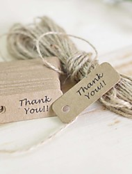 The wedding gift Thank you Classic Theme Stickers Labels & Tags-100 Piece/Set Labels / Tags Non-personalized Brown