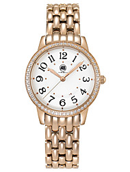 Victoria Rose Golden Case White Dial Rose Golden Stainless Steel Strap Watch