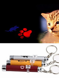 Cat / Dog Pet Toys Laser Toy Footprint / Mouse Red / Blue / Pink / Yellow / Silver Aluminum