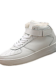 Men's Sneakers Spring / Fall Comfort PU Casual Flat Heel  Black / White / Black and White Sneaker