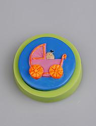 Baby carriage shape silicone mold fondant cake decorating Color Random