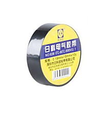 pvc cinta aislante de espesor de 0,19 mm * 18 mm de ancho * longitud 10y 5 tambores acondicionado para su venta