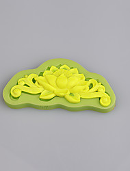 Cake vintage cake lace floral love decoration craft fondant silicone mould wedding flower Color Random