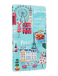 Iron Tower Pattern PU Leather Full Body Case with Stand and Card Slot for Sony M4AQUA Xperia X Xperia XA