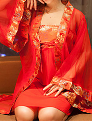 SKLV Women's Organza Robes / Ultra Sexy / Suits Chinese Style Nightwear