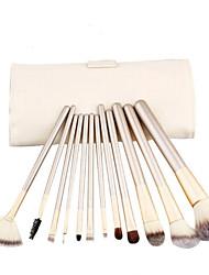 12pcs Makeup Brushes set Professional blush/powder/foundation/concealer brush shadow/eyeliner brush with white bag