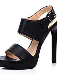Women's Sandals Summer Heels / Platform / Sandals / Open Toe PU Party & Evening / Dress / Casual Stiletto Heel Buckle
