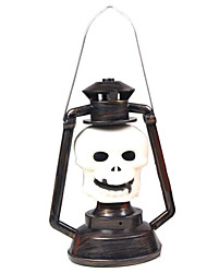 1PC Halloween Party Props Supplies Skeleton Ghost Light Pumpkin  Lamp Music Lamp