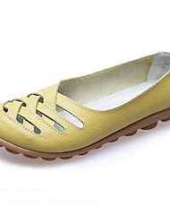 Women's Flats Spring / Summer Flats Leather Outdoor Flat Heel Others Black / Yellow / Green /