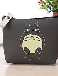 Unisex Coin Purse PU All Seasons Shopping Casual Professioanl Use Dark Gray