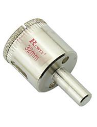 Rewin trous de verre en acier allié outil élargisseur 2pcs taille 32mm / boîte