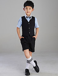 Хлопок Детский праздничный костюм - 4 Куски Включает в себя Жакет / Рубашка / Жилет / Брюки / Галстук-бабочка