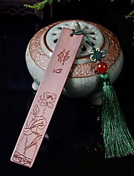 Red Wood Carving Meditation Bookmark Selling Chinese Wind Business Gifts Beautifully Decorated Den Bookmark