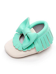 Girl's Sneakers Summer Comfort Leatherette Outdoor Flat Heel Bowknot Black / Blue / Brown / White / Silver / Gold Others