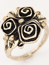 Anéis Fashion / Vintage Pesta / Diário / Casual Jóias Liga / Strass Feminino Anéis Statement 1pç,8 Bronze / Prateado