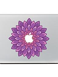 violette Blume Dekorhaut Aufkleber Aufkleber für macbook Luft / pro / Pro mit Retina
