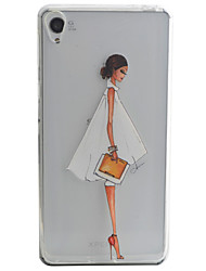 Skirt Girl Pattern Material TPU Phone Case For Sony Xperia E5 XA