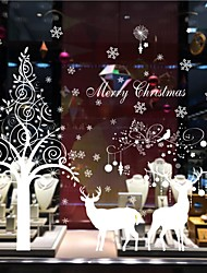 Christmas Deer Removable Wall Stickers Warm Living Room Bedroom Decoration Wall Stickers Glass Doors