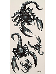 1 Tattoo Aufkleber Tier Serie scorpions Flash-Tattoo Temporary Tattoos