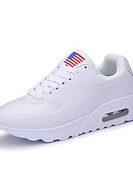 Черный Белый-Женский-Для занятий спортом-Тюль Полиуретан-На плоской подошве-Удобная обувь Туфли Мери-Джейн-Кеды