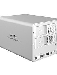 Orico 3,5 pouces démarre boîtier externe de disque dur portable à double 2 plaque de couleur aléatoire