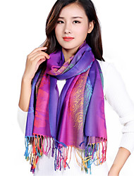Vintage Cotton Warm Autumn And Winter Blooming Printed Fringed Gradient Color Shawl Scarf Oversized Travel Scarves
