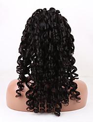 20-26 pouces couleur naturelle noir vague lâche brazilian vierge de dentelle de cheveux devant perruque avec des cheveux de bébé