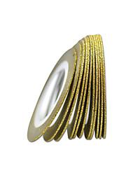 10pcs 1mm Nail Art Gold Color Nail Tape Lines DIY Decoration Manicure Beauty