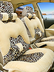 Leopard Car Seat Cushion Cover Plush Warm Winter