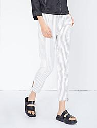 Pantalon Aux femmes Slim simple / Actif Coton Non Elastique