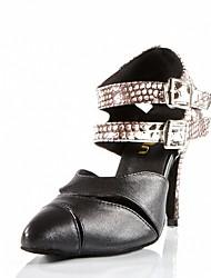 Sapatos de Dança(Preto) -Feminino-Personalizável-Latina / Moderna