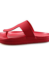 Men's Slippers & Flip-Flops Summer Flip Flops Leatherette Outdoor Flat Heel Others Black / Red / White Others