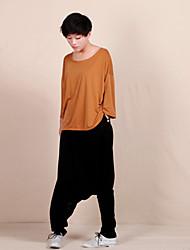 De las mujeres Pantalones Harén-Simple Microelástico-Algodón / Licra