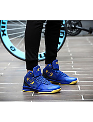 Unisex Athletic Shoes Fall Comfort PU Athletic Flat Heel Others Black Blue Yellow Basketball